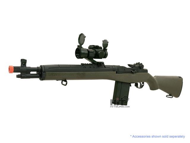 Cyma M14 SOCOM Green Sniper Airsoft Electric Gun M14 Sniper Rifle Airsoft