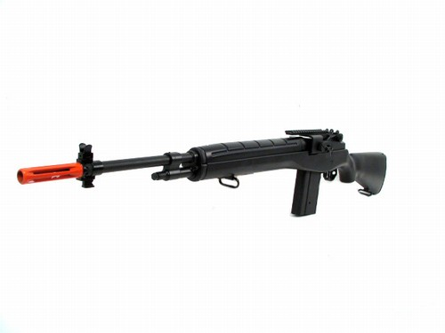 JG M14 Airsoft Electric Sniper Rifle BLACK by AGM MP008 M14 Sniper Rifle Airsoft