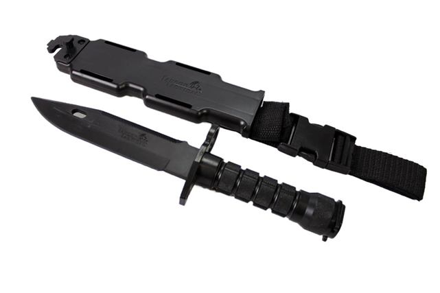 Lancer Tactical Rubber Combat Bayonet Knife With Scabbard