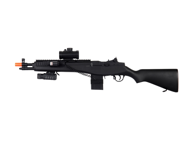 UKARMS M305P M14 Sniper Spring Airsoft Gun with Laser and ... M14 Sniper Rifle Airsoft